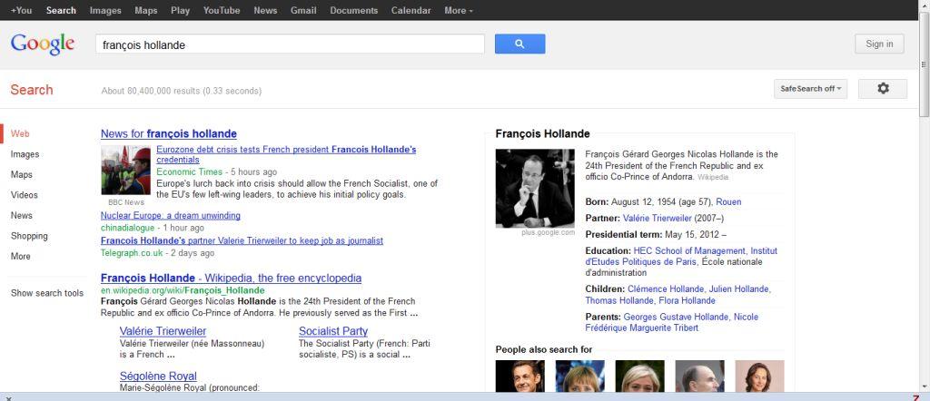 google entité nommée